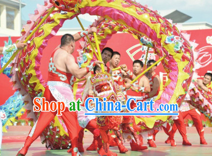 Handmade Chinese New Year Olympic Adult Dragon Dance Equipment Complete Set