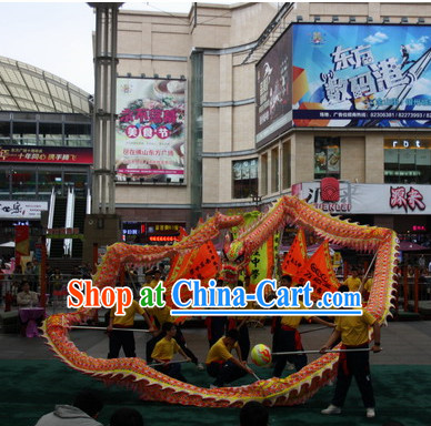 Top Competition and Parade Luminous Dragon Dance Costumes Complete Set