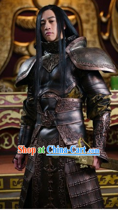 Ancient Chinese General Armor Costumes Complete Set for Men