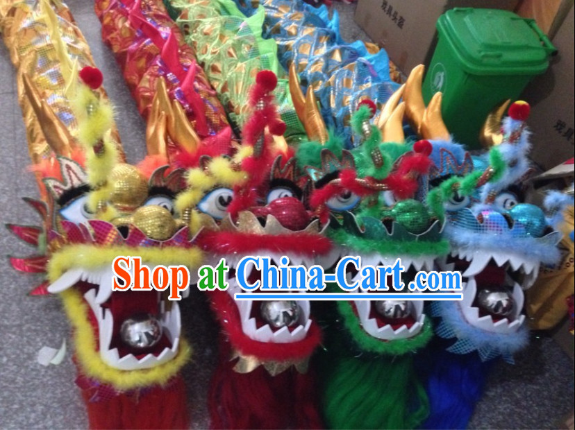 18 Meters 10 People Celebration and Competition Dragon Dancing Equipment Complete Set