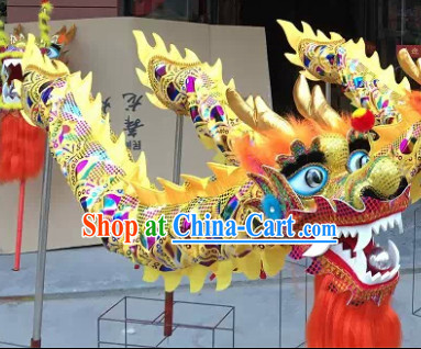 Four People Chinese New Year Dragon Dance Equipment Complete Set
