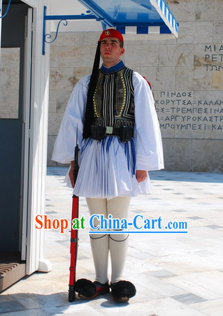 Traditional Greek Clothing and Hat Complete Set for Men