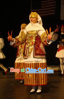 Greek Women Dance Costumes Complete Set