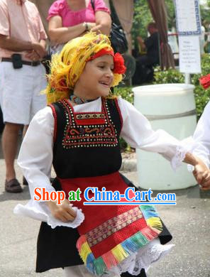 Traditonal Greek Dane Costume Complete Set for Kids