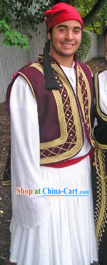 Mens Greek National Costumes Complete Set