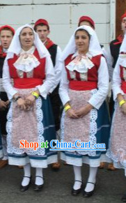 Greek Folk Female Costumes Complete Set