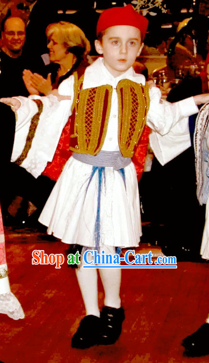 Traditional Kids Greek Costumes Complete Set