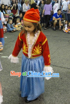 Little Girls Greek National Costumes Complete Set