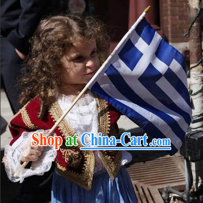 Little Girls Greek Costumes Complete Set