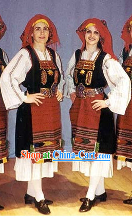 Women Greek Dance Costumes Complete Set