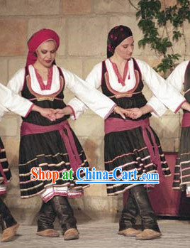 Womens Greek Dance Costumes Complete Set