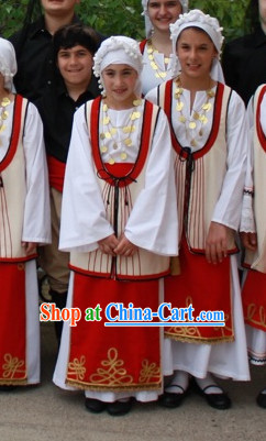 Kids Greek Dance Costumes Complete Set
