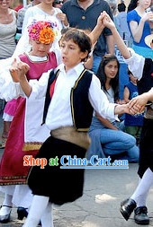 Kids Boys Greek Dance Costumes Complete Set