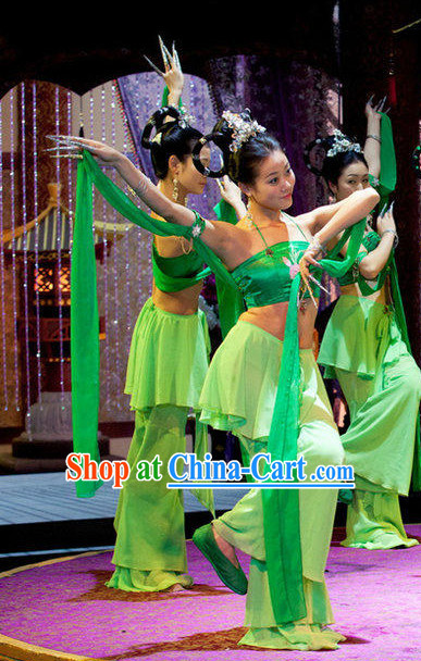 Chinese Classical Fairy Dance Costumes and Headwear