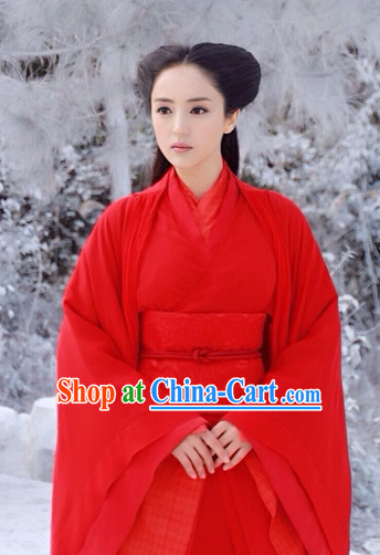 Chinese Red Hanfu Oriental Clothing for Women
