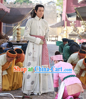 Classic Chinese White Hanfu Clothes for Men