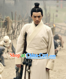 Traditional Chinese White Hanfu Clothing for Men