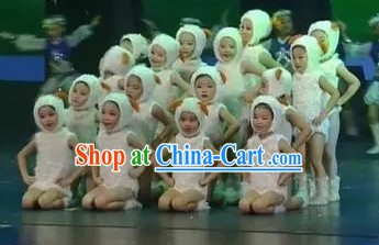 White Chinese New Year Celebration Goat Costumes