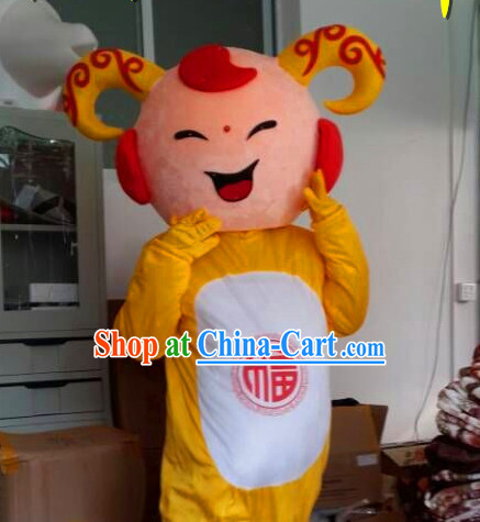 Chinese New Year Celebration Sheep Mascot Costumes Complete Set for Adults