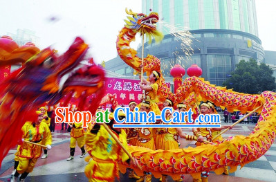 Eruptive Yellow Fire Dragon Dancing Equipments Complete Set
