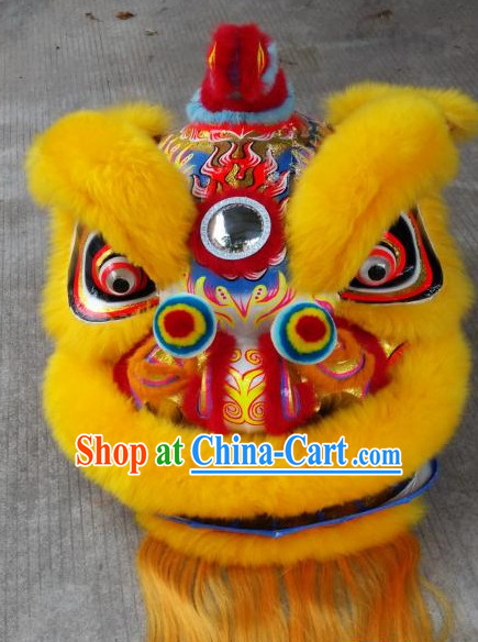 Chinese New Year LED Mirror Lion Dance Costume Complete Set