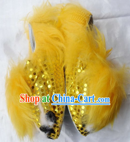Professional Silk and Wool Lion Dancing Shoes