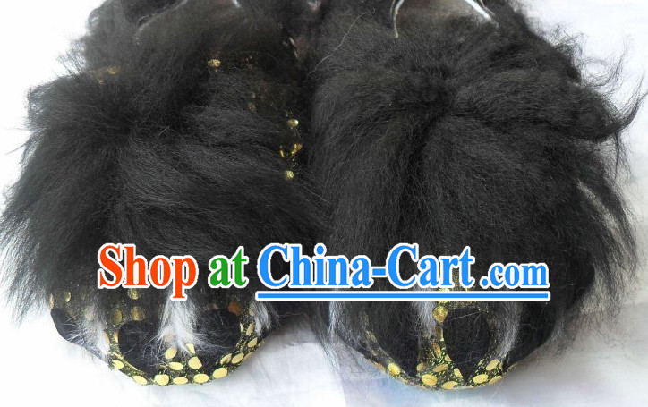 Professional Silk and Wool Lion Claw Shoes