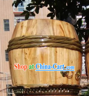Professional Handmade Natural Wood Lion Drum