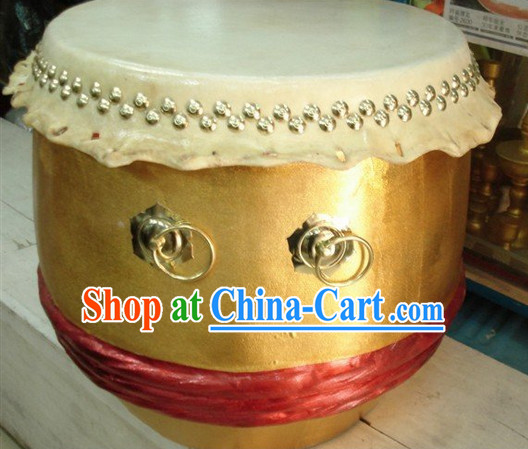 Professional Handmade Gold Lion Drum