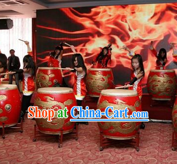 Chinese Dragon and Lion Dance Performance Drum