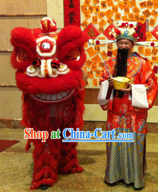 Asian Chinese Cai Shen Lion Costume Complete Set