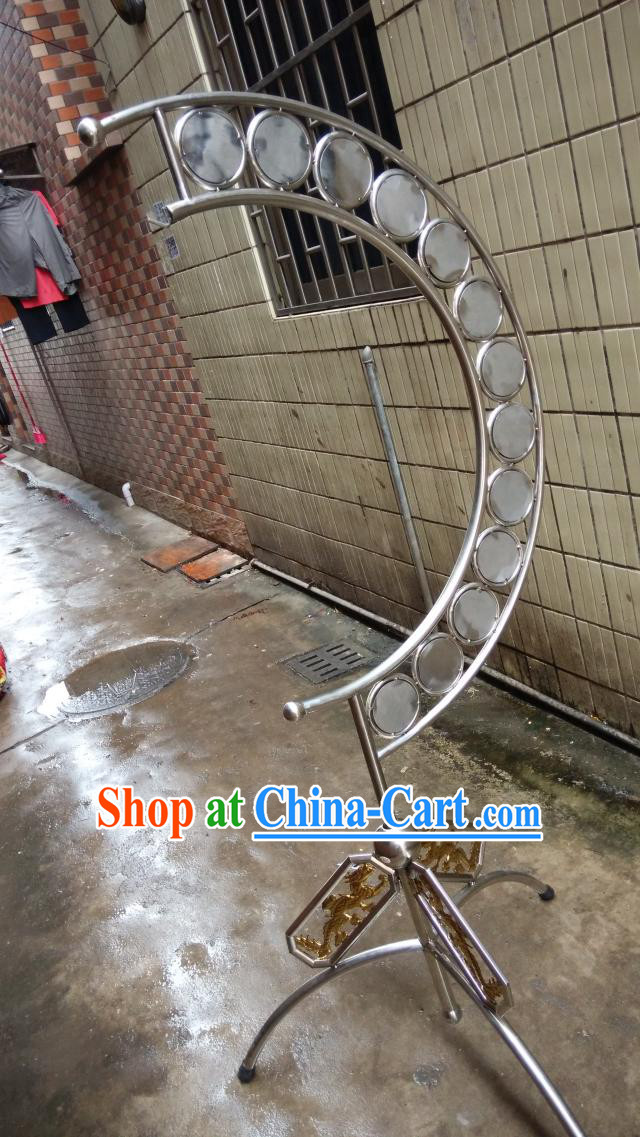 Chinese Gong and Cymbal Instrument Stand