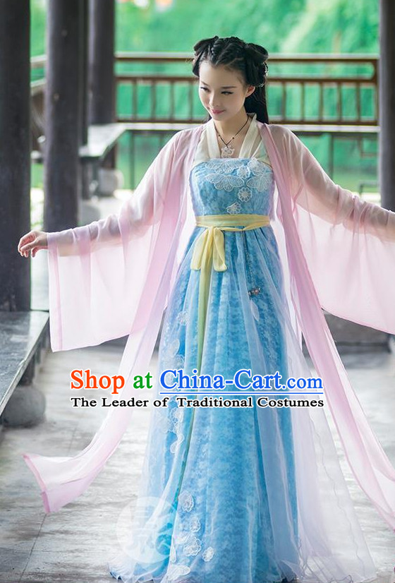 China Ancient Fairy Halloween Costume Complete Set for Women