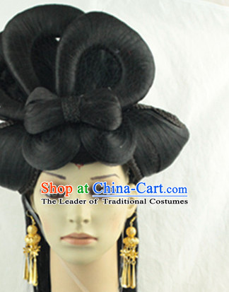 Ancient Chinese Lady Black Long Wigs