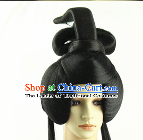 Ancient Chinese Princess Long Black Wigs