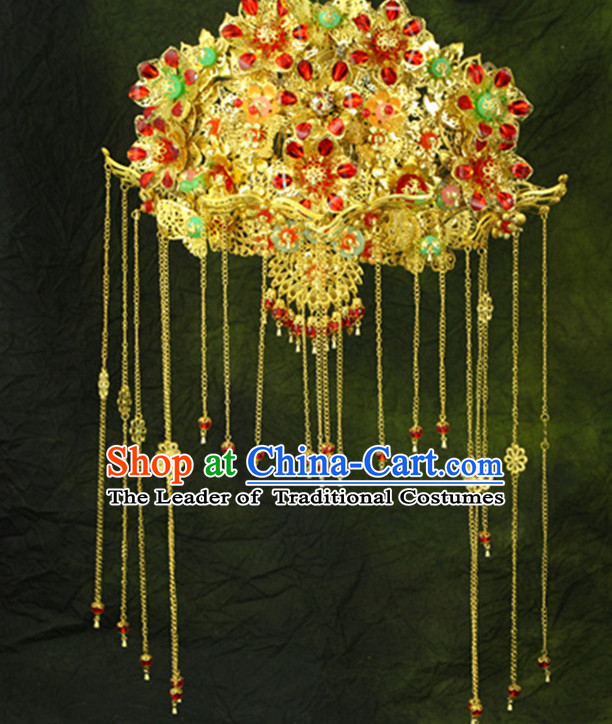 Ancient Chinese Wedding Headpieces Phioenix Hat
