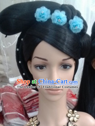 Ancient Chinese Fairy Black Wigs and Hair Accessories