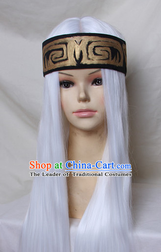 Ancient Chinese Superhero White Wigs