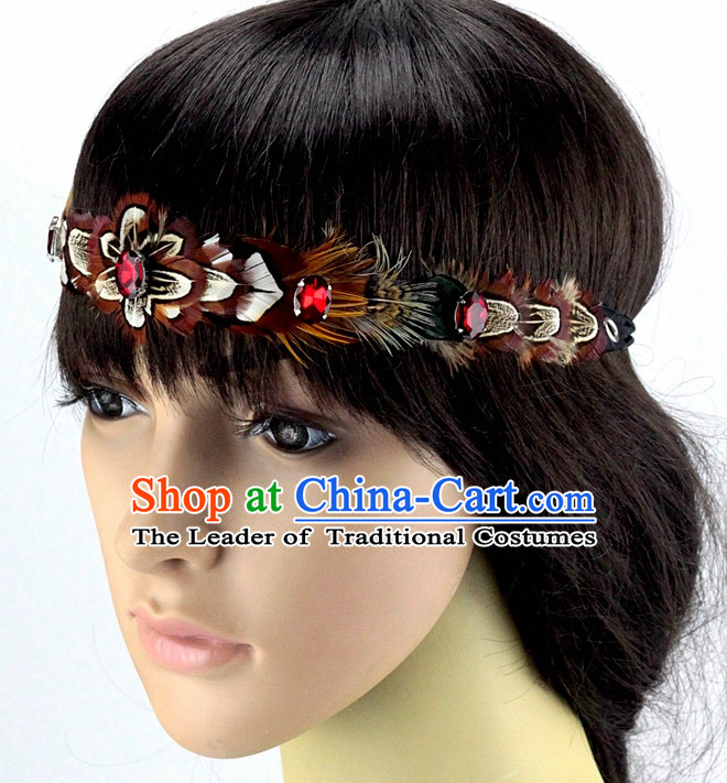 Handmade Chinese Feather Hair Accessories