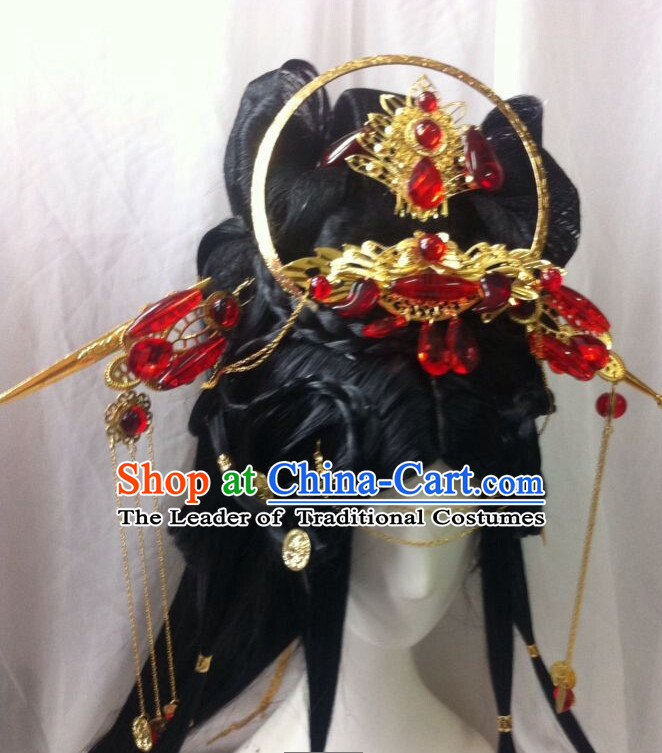 Chinese Classic Wedding Black Wigs and Hairpieces