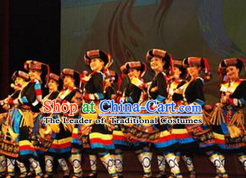 Chinese Yi Girl Dance Costumes