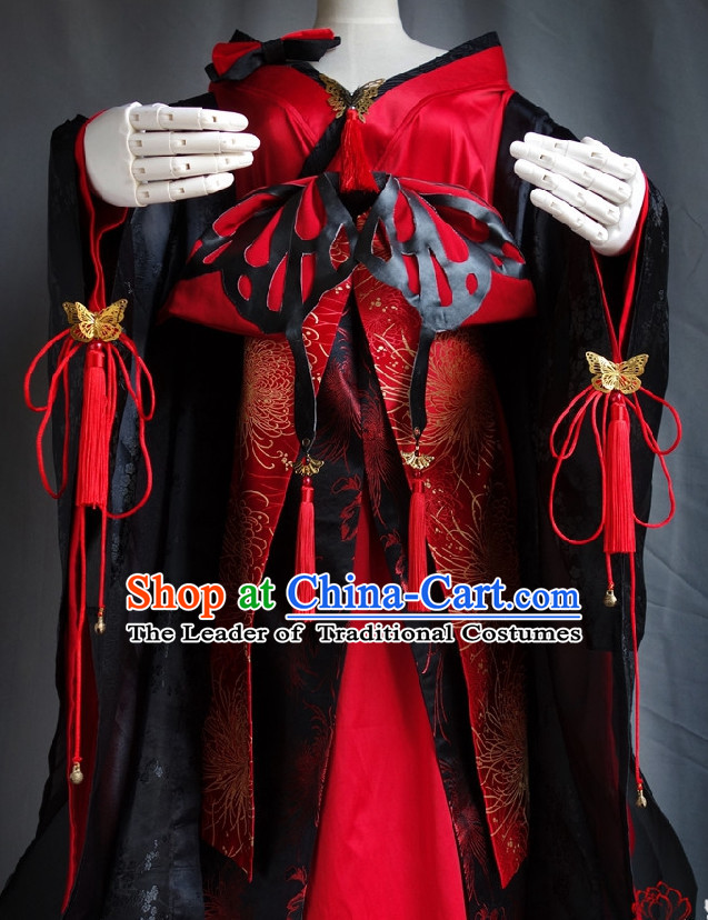 Japanese Geisha Halloween Costumes Fairy Empress Queen Princess Costume Complete Set