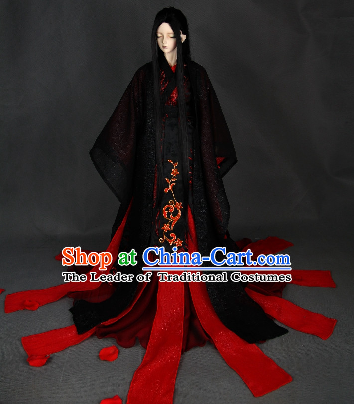 Asian Chinese Traditional Halloween Costumes Complete Set
