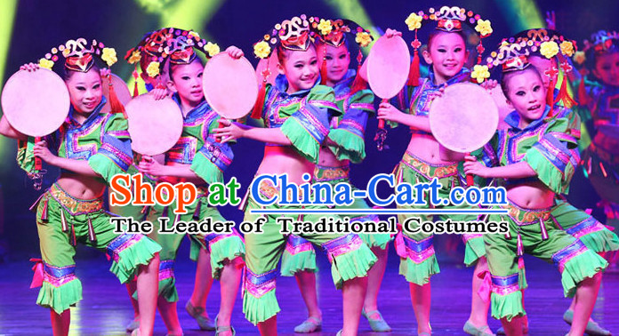Chinese Folk Dance Costumes for Kids