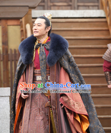 Ancient Chinese Prince Costumes and Helmet Complete Set