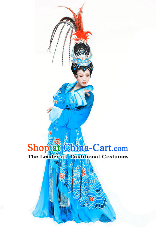 Stage Performance Ancient Chinese Queen Costumes and Hair Accessories