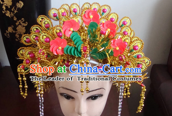 Ancient Chinese Empress Phoneix Crown Helmet Hat