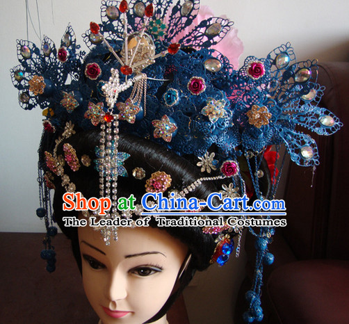 Theatrical Performances Chinese Tang Dynasty Empress Phoenix Hairstyles Fascinators Fascinator Wholesale Jewelry Hair Pieces and Wigs