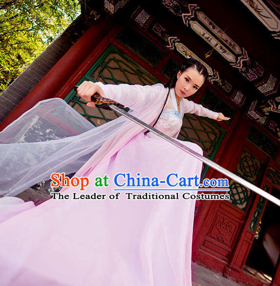 Chinese Ancient Knight Female Costumes