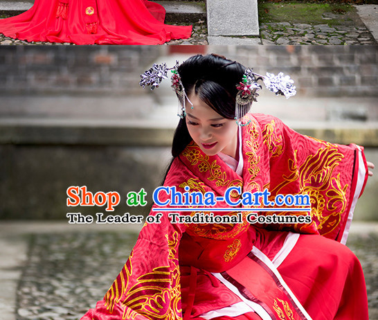 Chinese Ancient Red Wedding Garment